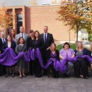 The DA's Office Shines the Light on Domestic Violence by Turning Saratoga County Purple in October of 2012