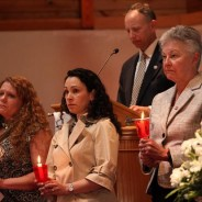 Crime Victim's Right's week candle light vigil in Saratoga Springs at the New England Congregational Prebyterian Church remembering crime victims on April 21, 2013