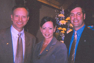 DA Murphy, Crime Victim Specialist Erin Pierone and Chairman of the Board of Supervisors Bill Peck at the 2010 Vigil